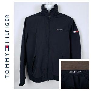 Tommy Hilfiger Coat Zip Up Jacket Medium Spell out